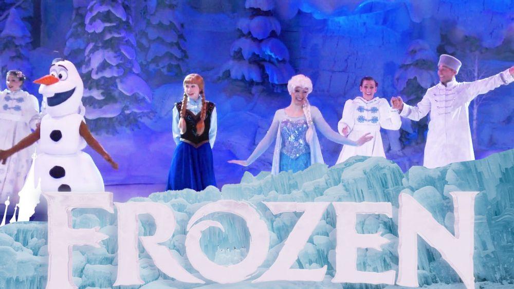 Spettacolo animazione Frozen personaggi Disney