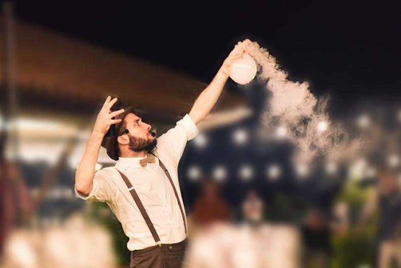 Spettacolo bolle di sapone giganti
