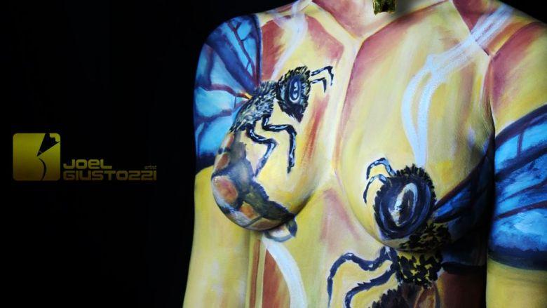 Spettacolo Bodypainting per eventi – pittura su corpo
